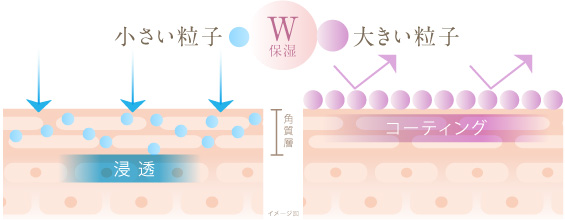 小さい粒子と大きい粒子