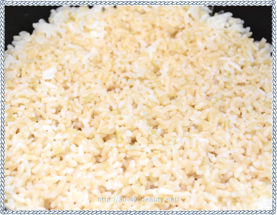 発芽米の炊きあがった様子