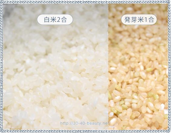 発芽米と白米の比較