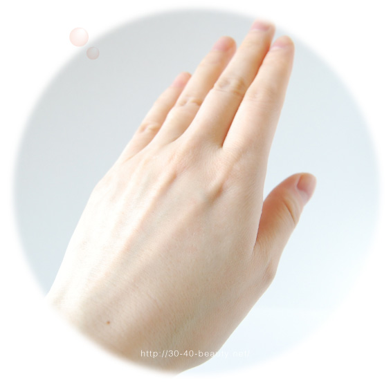 クリアネオパールを使った使用後の肌