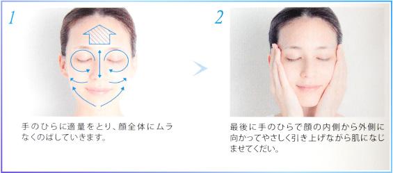 コーセー米肌美白トライアルセットの使い方